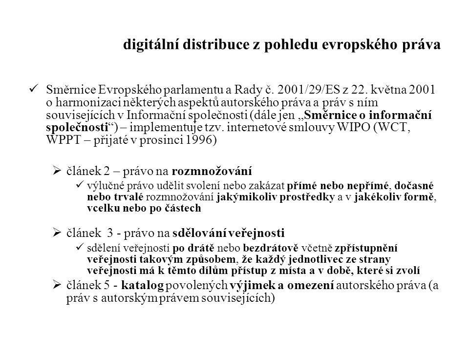 digitální distribuce z pohledu evropského práva