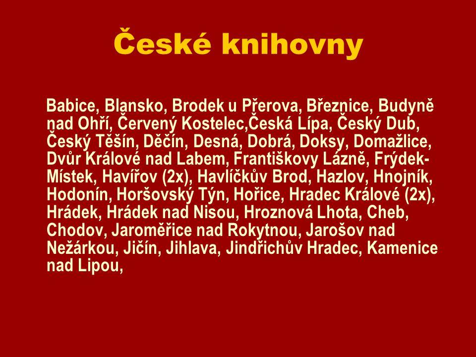 České knihovny