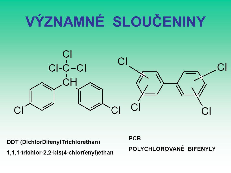 VÝZNAMNÉ SLOUČENINY PCB DDT (DichlorDifenylTrichlorethan)