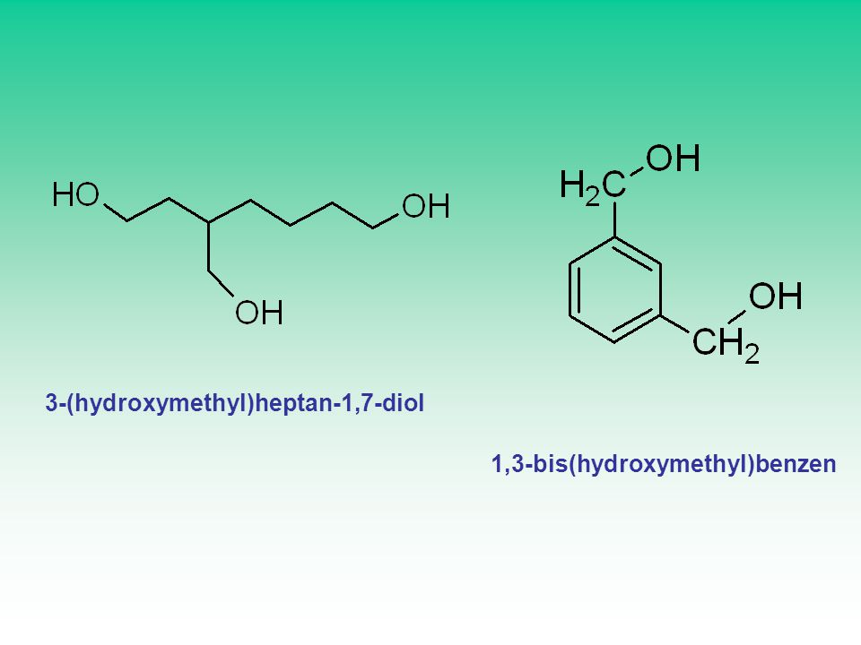3-(hydroxymethyl)heptan-1,7-diol 1,3-bis(hydroxymethyl)benzen