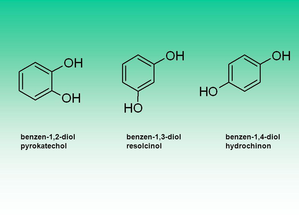 benzen-1,2-diol pyrokatechol benzen-1,3-diol resolcinol benzen-1,4-diol hydrochinon