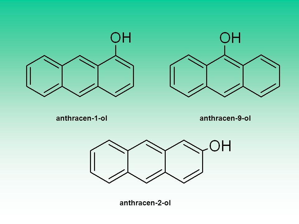 anthracen-1-ol anthracen-9-ol anthracen-2-ol