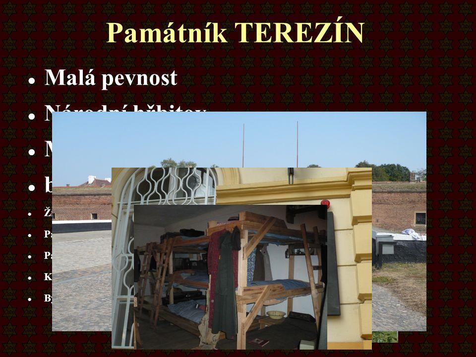 Památník TEREZÍN Malá pevnost Národní hřbitov Muzeum ghetta