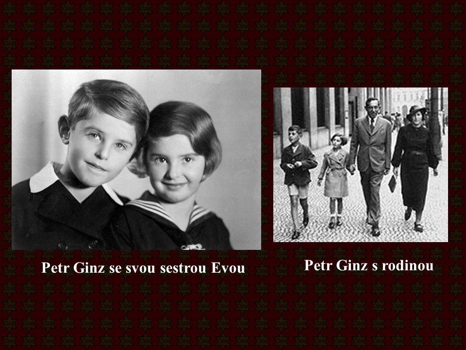 Petr Ginz se svou sestrou Evou