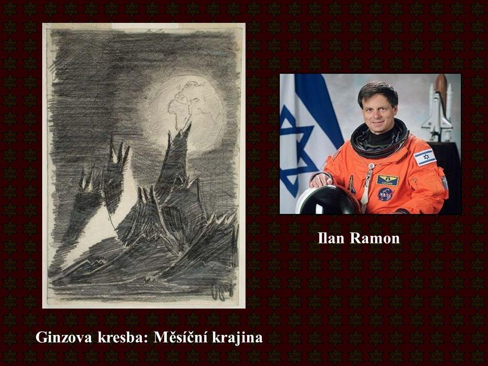 Ilan Ramon Ginzova kresba: Měsíční krajina