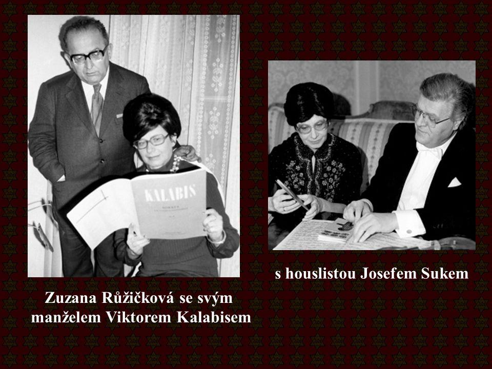Zuzana Růžičková se svým manželem Viktorem Kalabisem