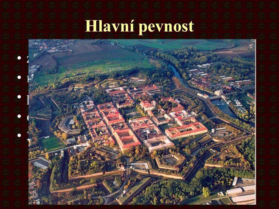 Hlavní pevnost zahrnuje samotné město má osmiúhelníkový tvar