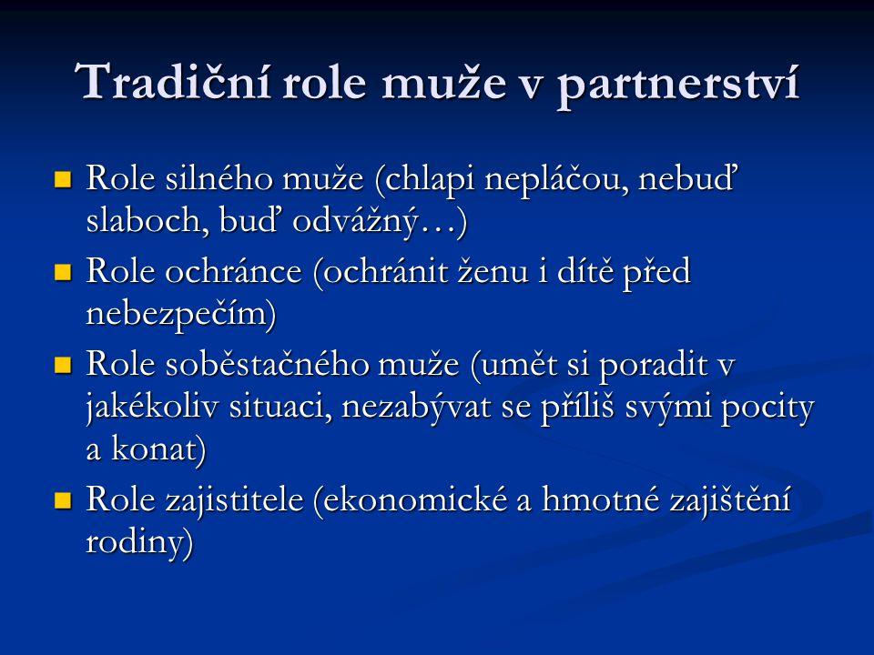 Tradiční role muže v partnerství