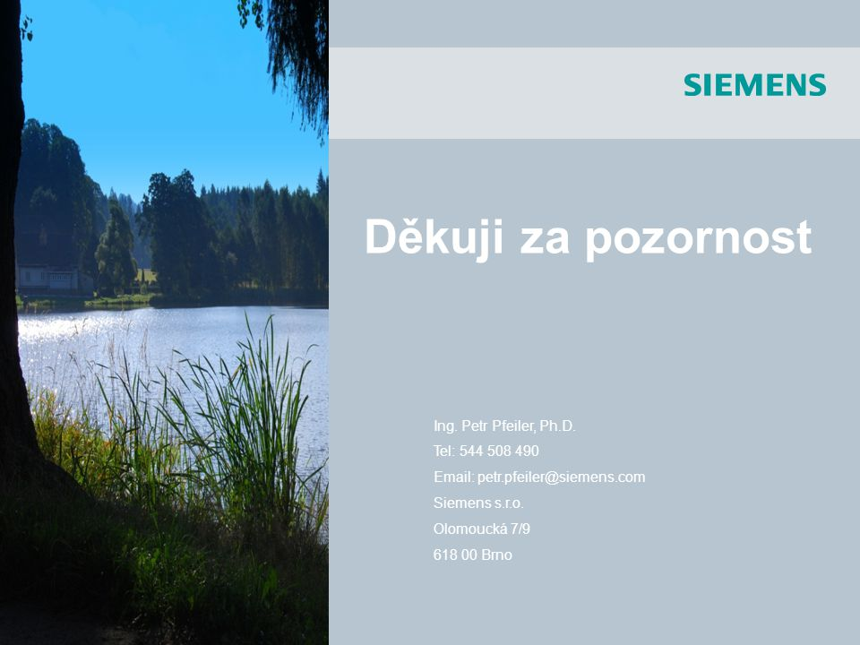 SIMOTION Děkuji za pozornost Ing. Petr Pfeiler, Ph.D. Tel: 544 508 490