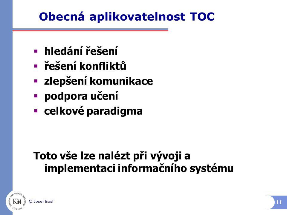 Obecná aplikovatelnost TOC