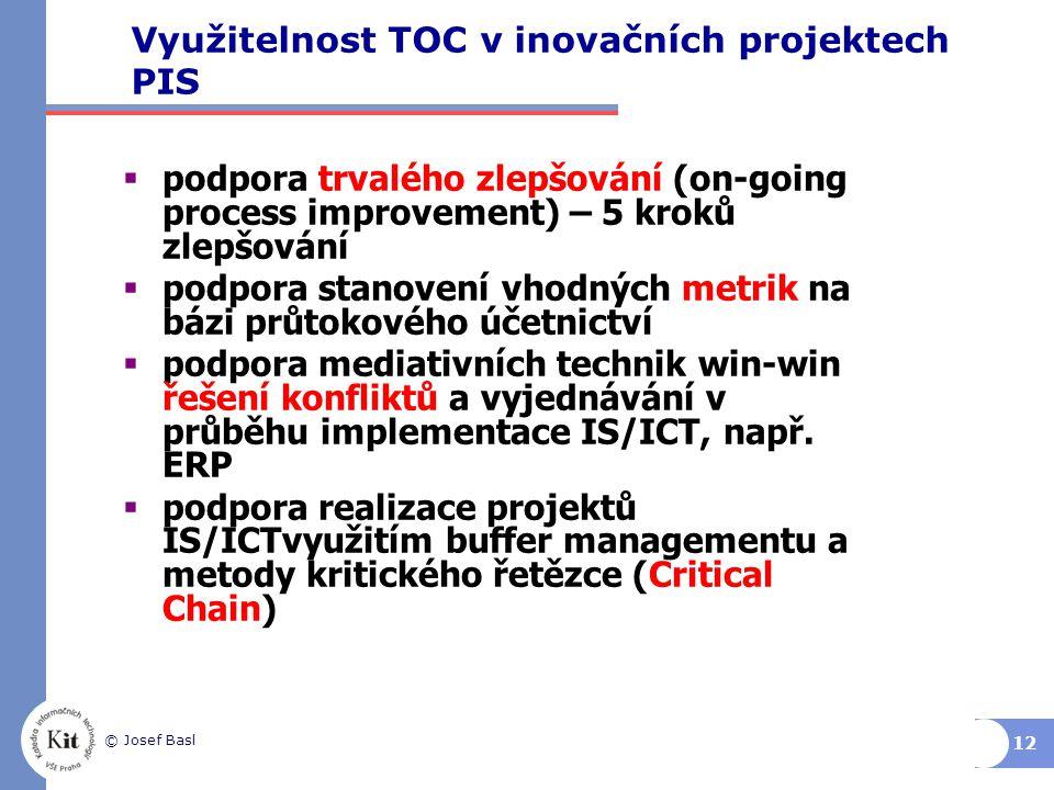 Využitelnost TOC v inovačních projektech PIS