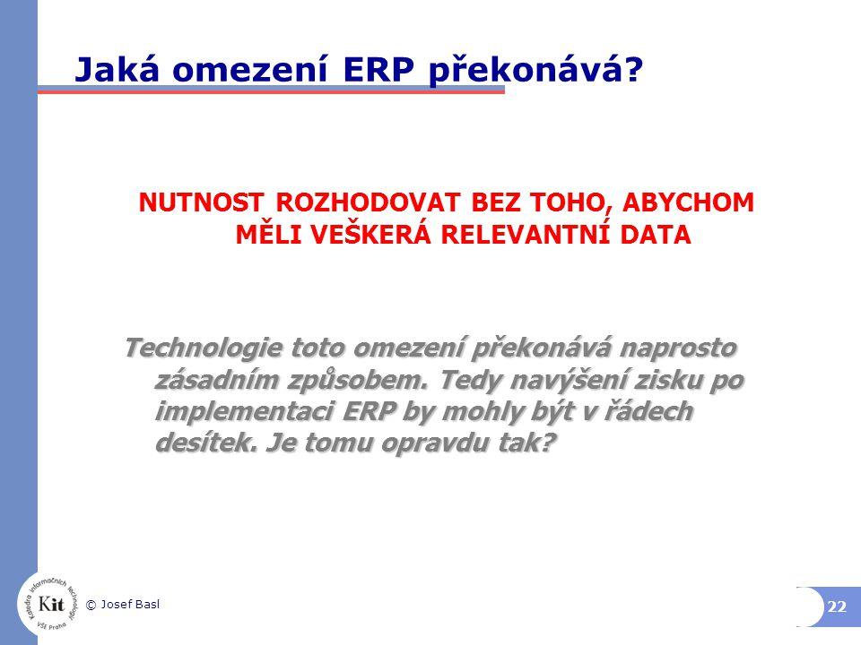 Jaká omezení ERP překonává