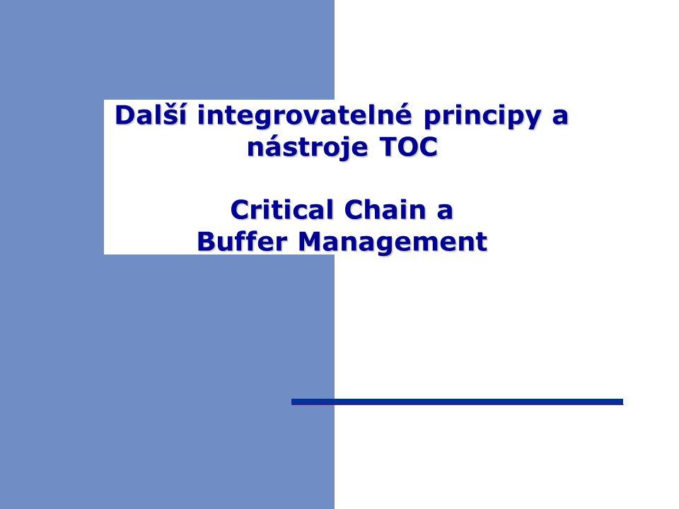 Další integrovatelné principy a nástroje TOC Critical Chain a Buffer Management