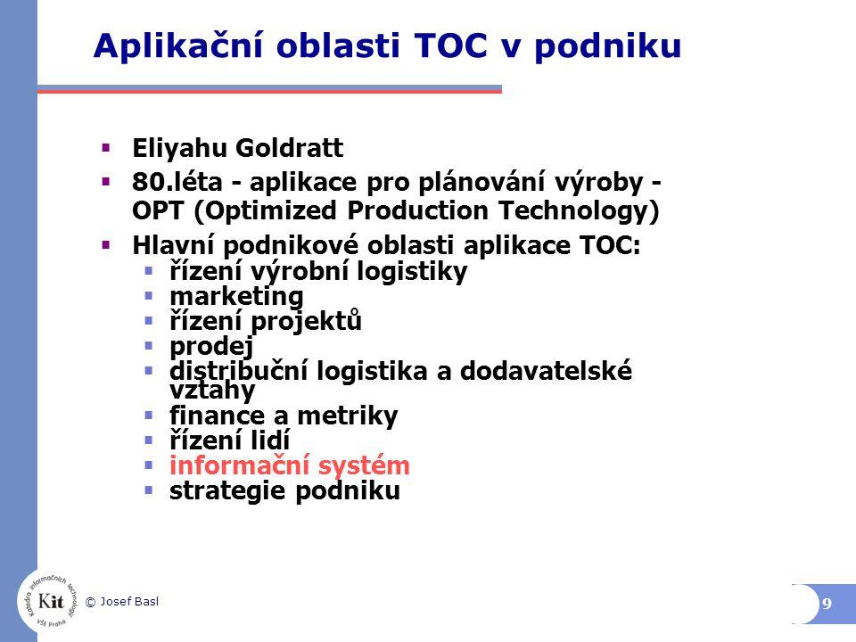Aplikační oblasti TOC v podniku