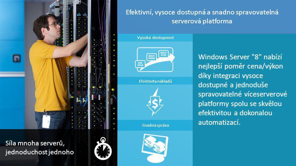 Efektivní, vysoce dostupná a snadno spravovatelná serverová platforma