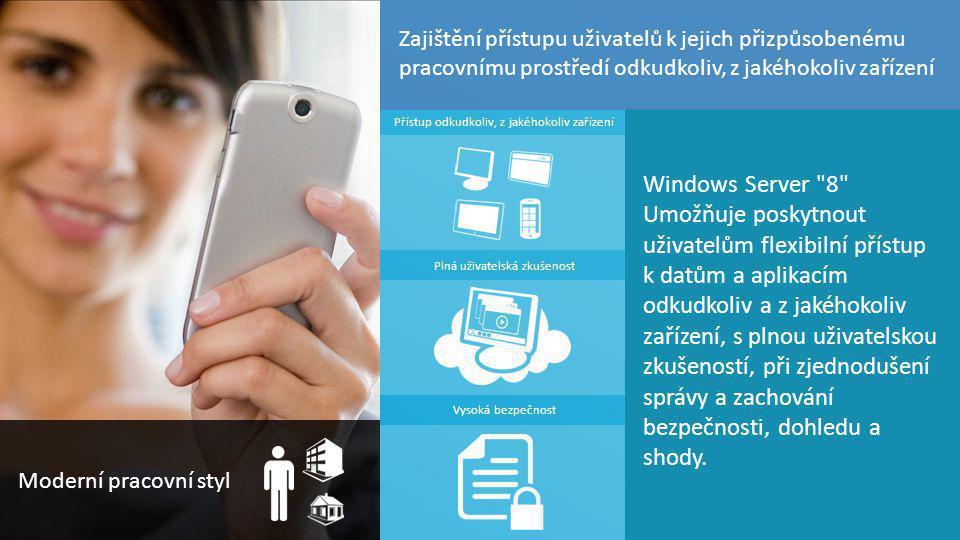 Zajištění přístupu uživatelů k jejich přizpůsobenému pracovnímu prostředí odkudkoliv, z jakéhokoliv zařízení
