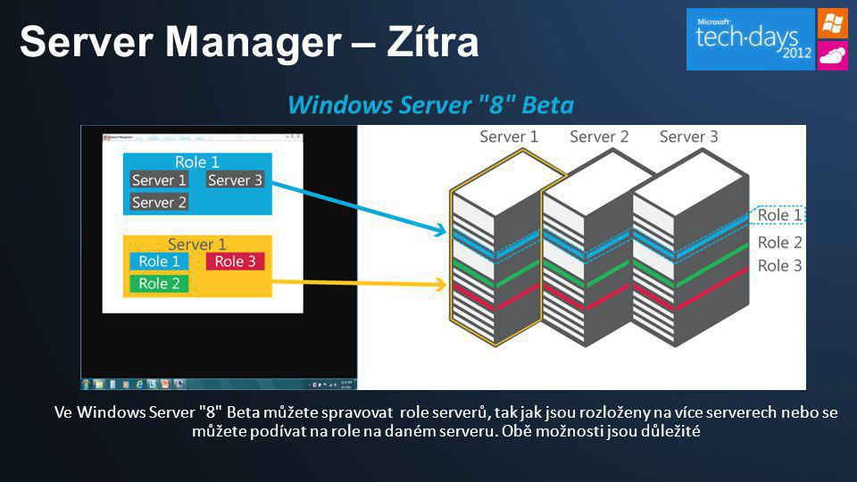 Server Manager – Zítra Windows Server 8 Beta