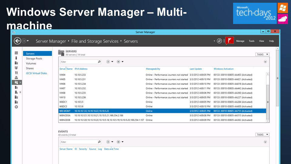 Windows Server Manager – Multi-machine