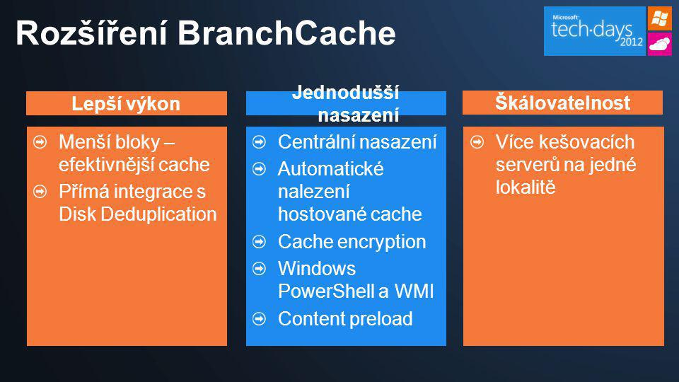 Rozšíření BranchCache