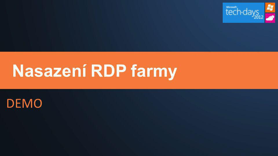 Nasazení RDP farmy
