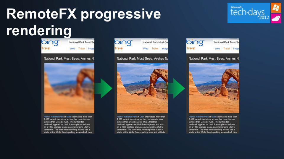 RemoteFX progressive rendering