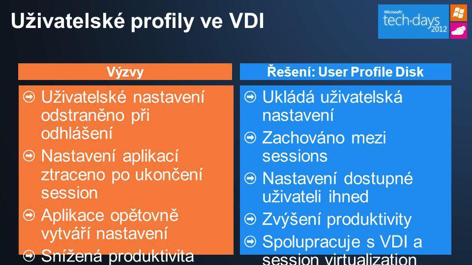 Uživatelské profily ve VDI