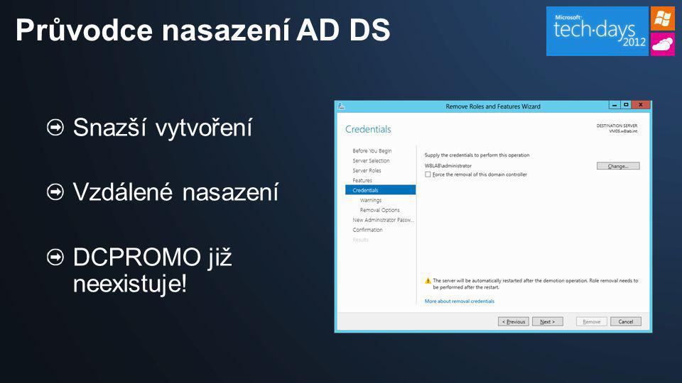 Průvodce nasazení AD DS