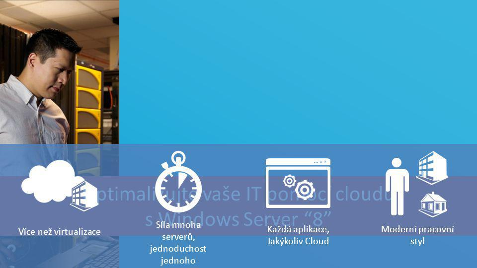 Optimalizujte vaše IT pomocí cloudu s Windows Server 8