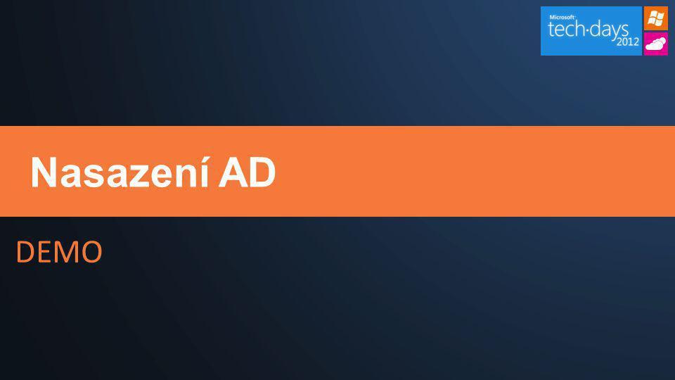 Nasazení AD