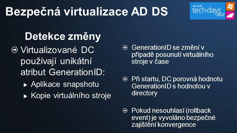 Bezpečná virtualizace AD DS