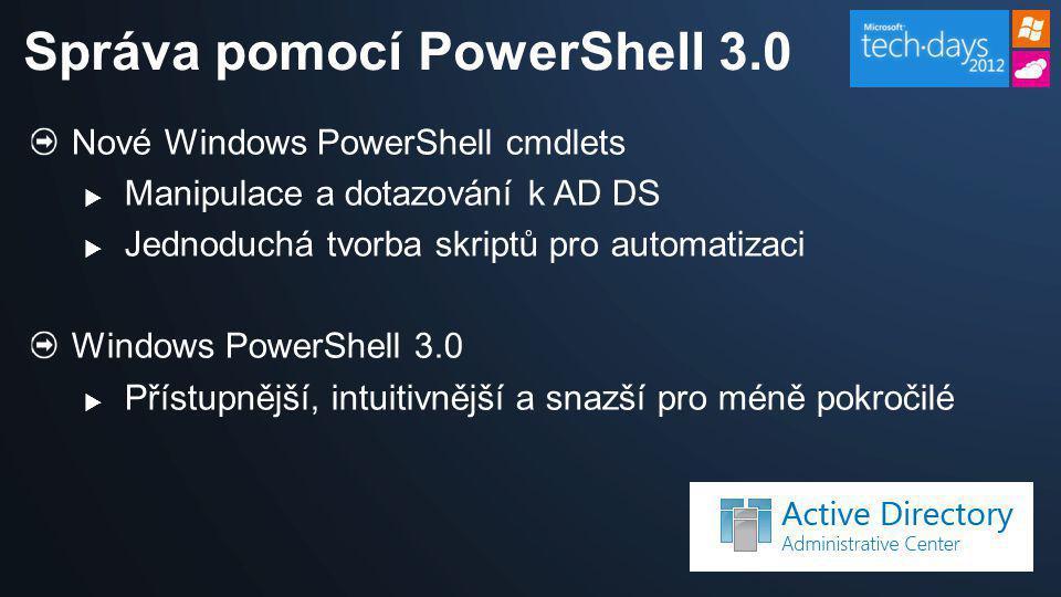Správa pomocí PowerShell 3.0