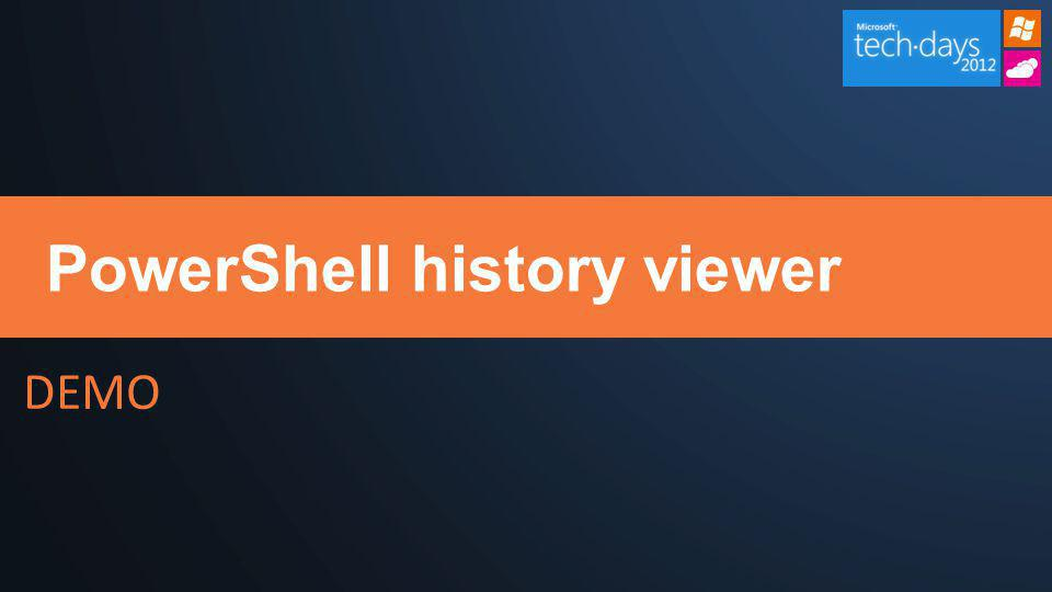PowerShell history viewer