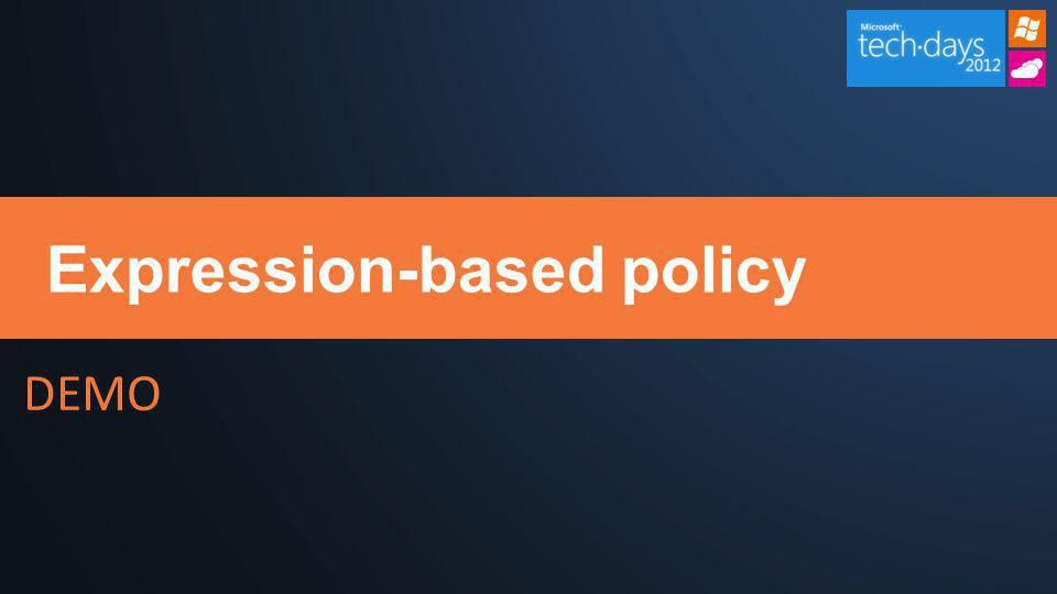 Expression-based policy