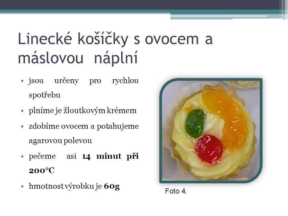 Linecké košíčky s ovocem a máslovou náplní