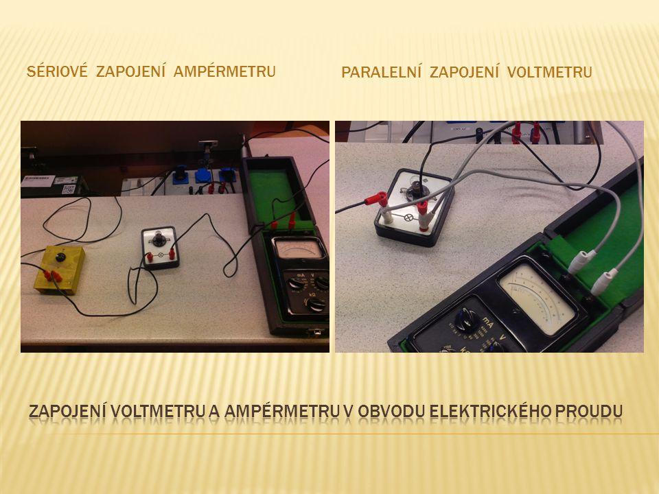 Zapojení voltmetru a ampérmetru v obvodu elektrického proudu
