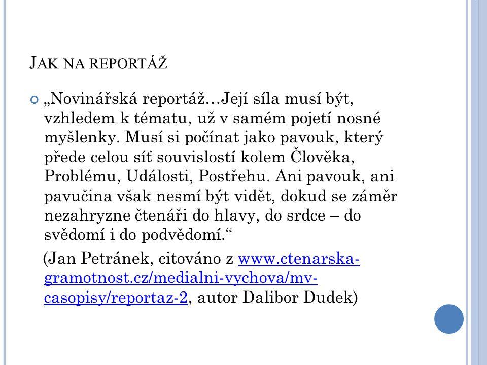 Jak na reportáž