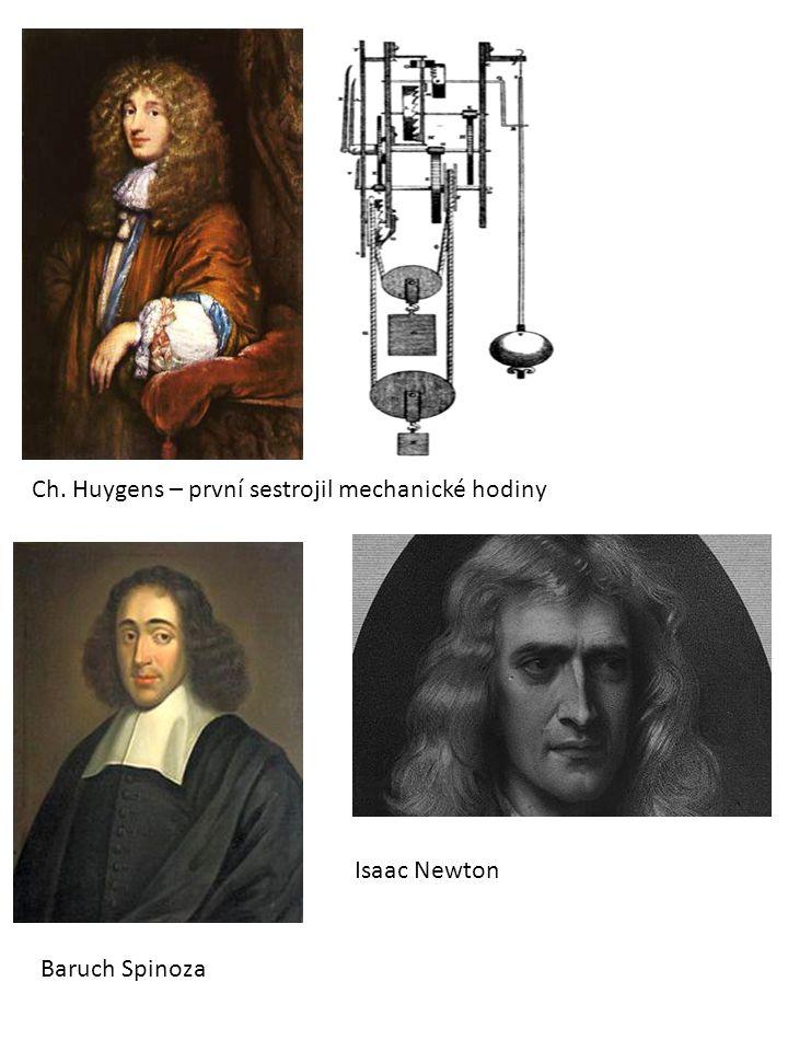 Ch. Huygens – první sestrojil mechanické hodiny