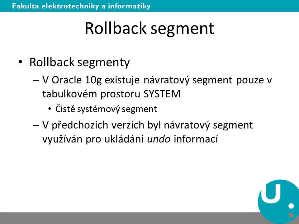 Rollback segment Rollback segmenty