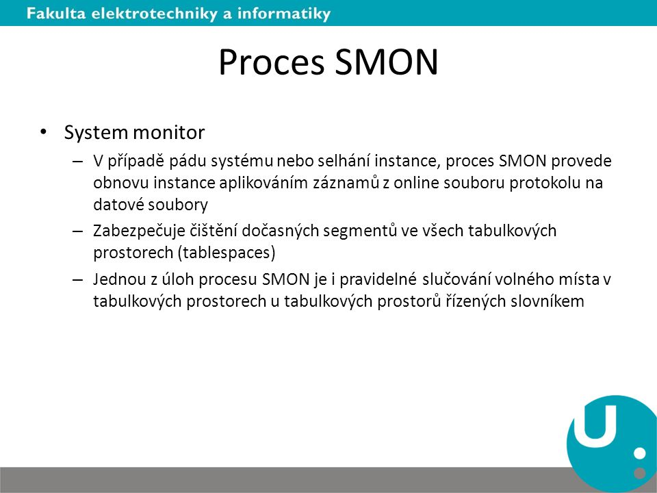 Proces SMON System monitor