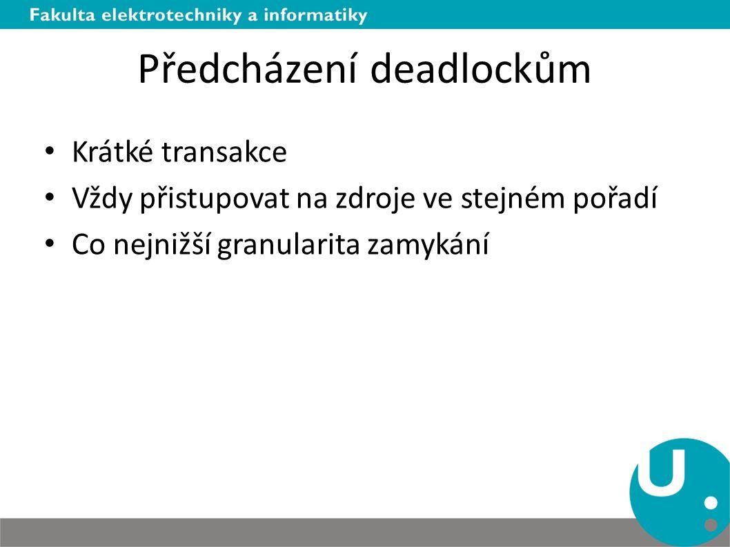 Předcházení deadlockům