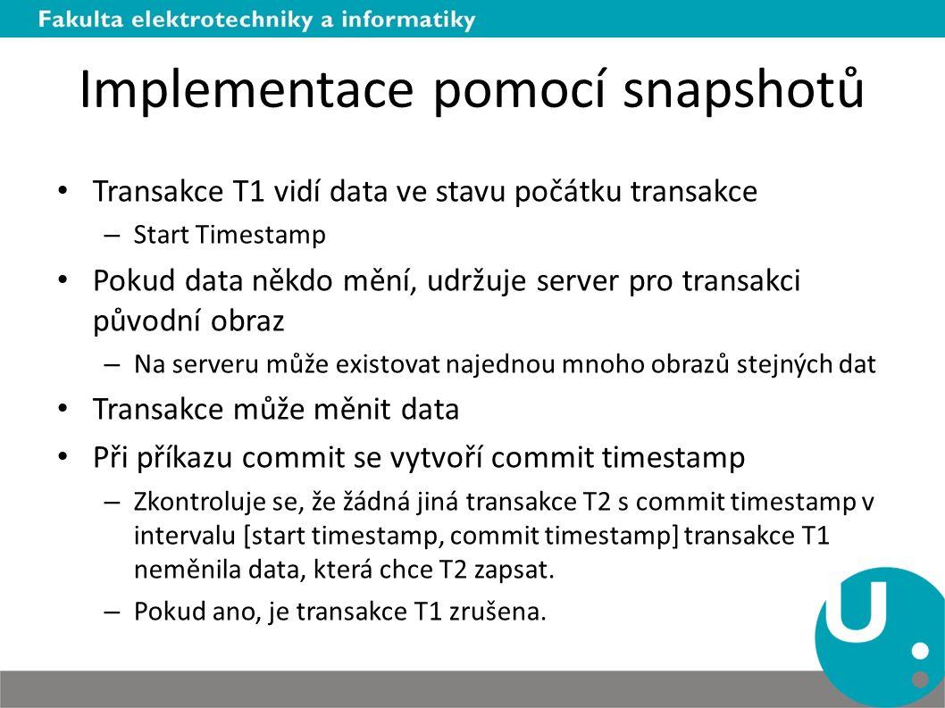Implementace pomocí snapshotů