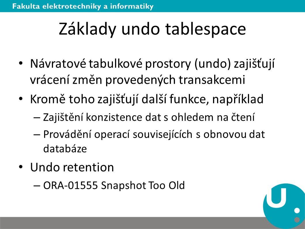 Základy undo tablespace