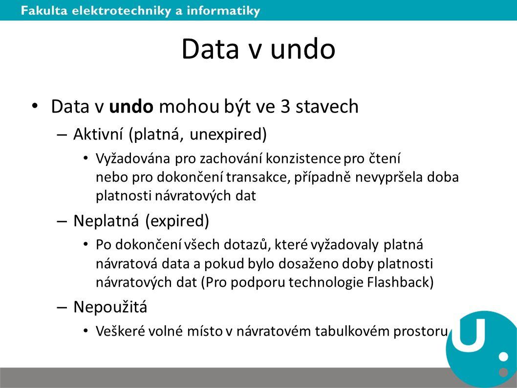 Data v undo Data v undo mohou být ve 3 stavech