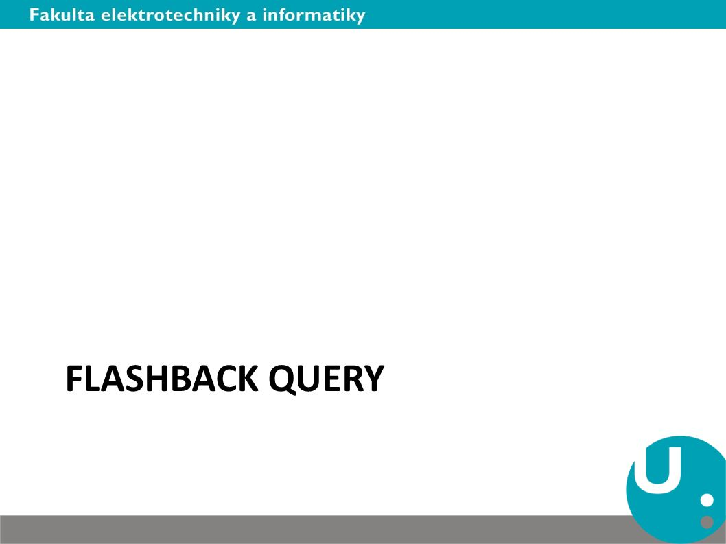 Flashback query
