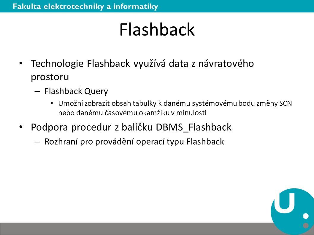 Flashback Technologie Flashback využívá data z návratového prostoru