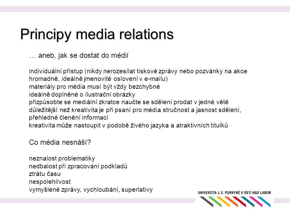 Principy media relations