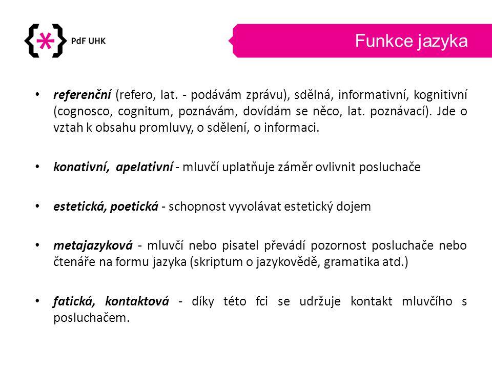 Funkce jazyka