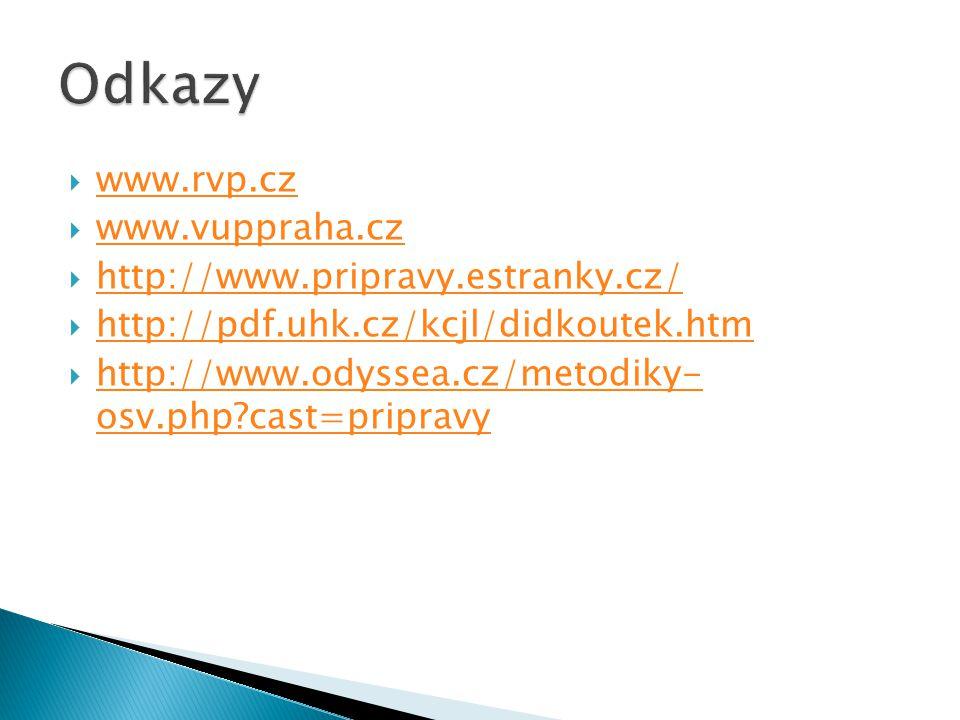 Odkazy www.rvp.cz www.vuppraha.cz http://www.pripravy.estranky.cz/