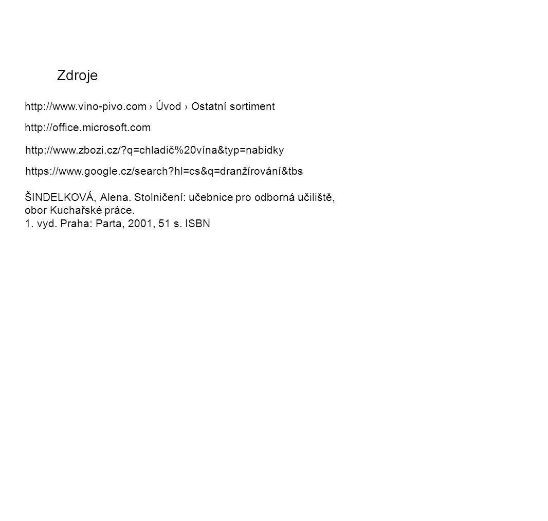 Zdroje http://www.vino-pivo.com › Úvod › Ostatní sortiment