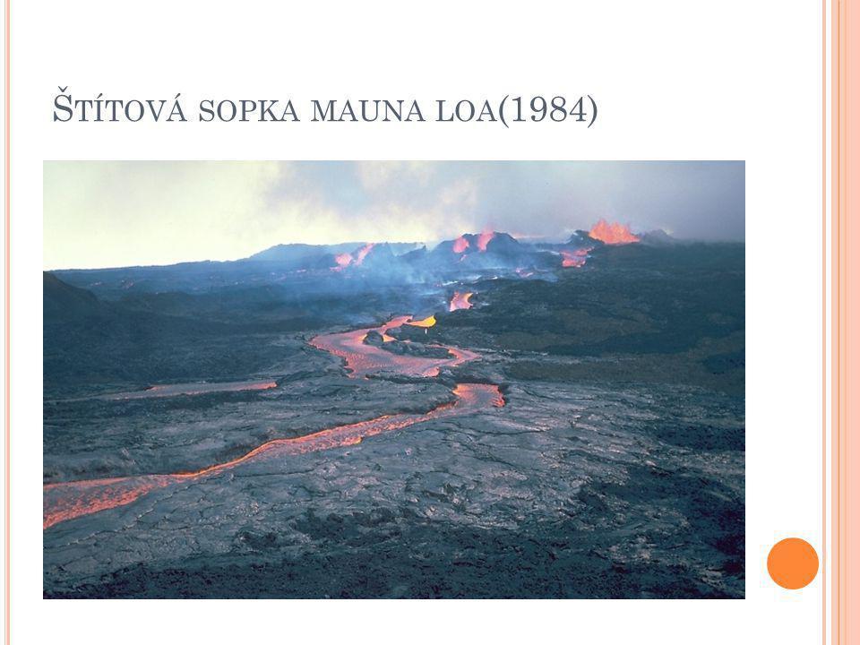 Štítová sopka mauna loa(1984)